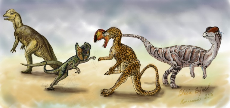 dilphosaurus through the ages