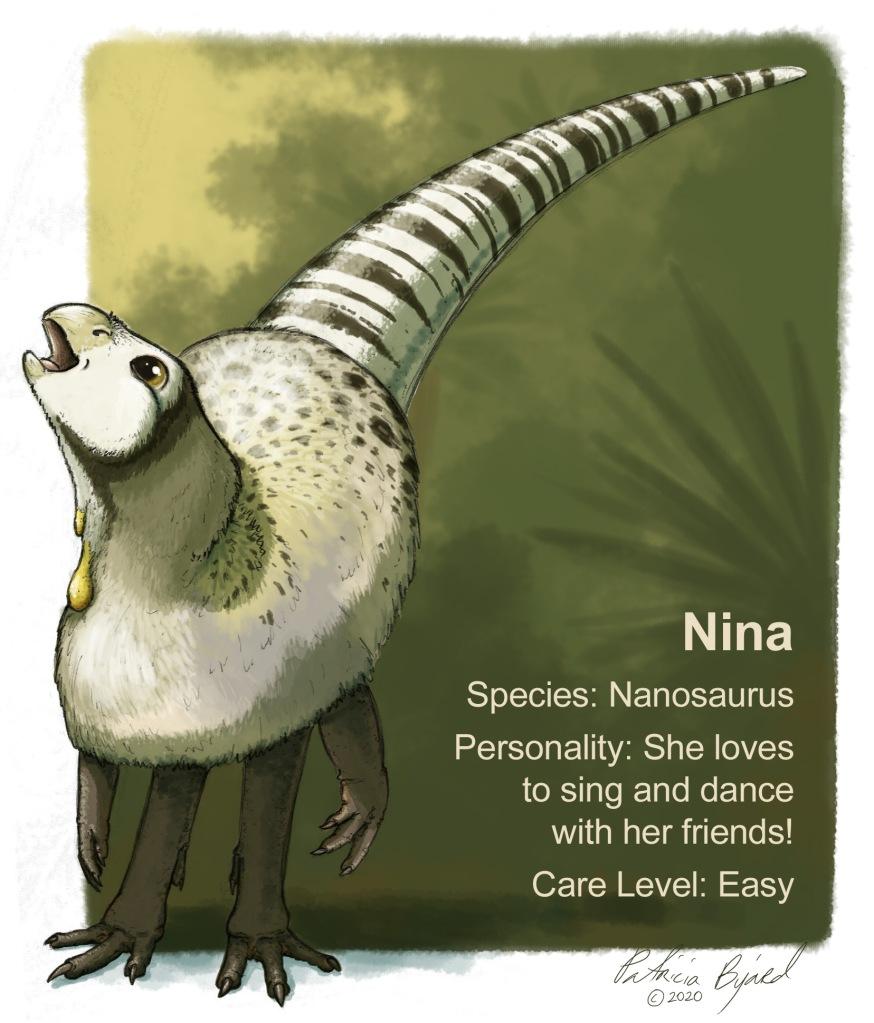 Nina the Nanosaurus is so happy she could sing!