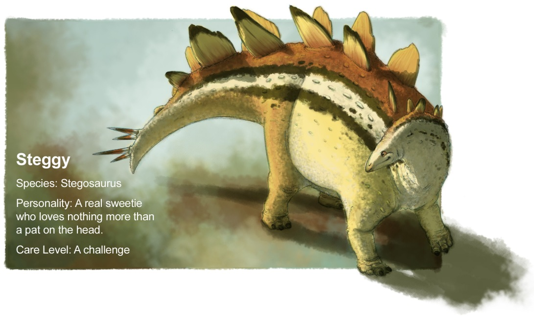 Updated stegosaurus profile