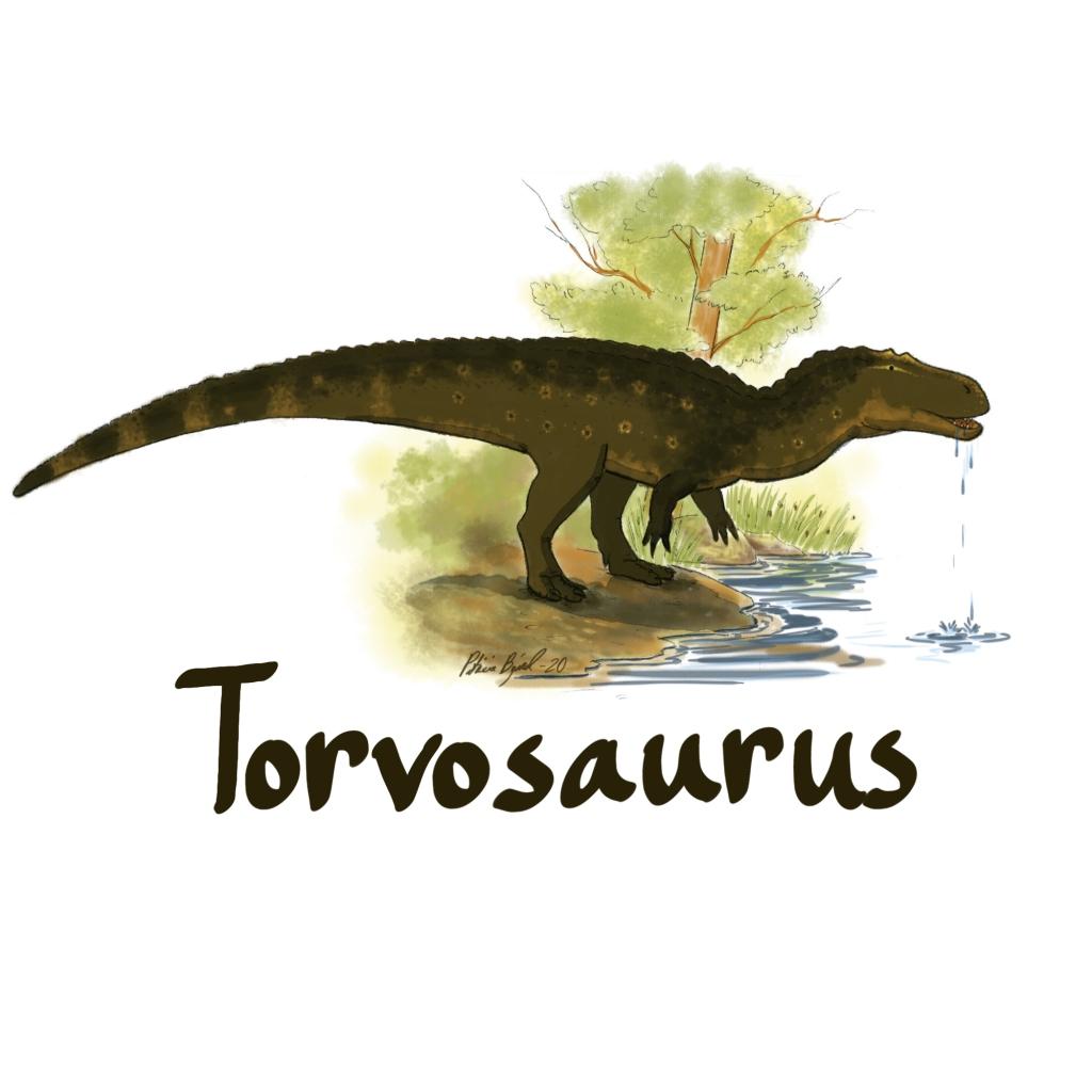 A thirsty Torvosaurus.