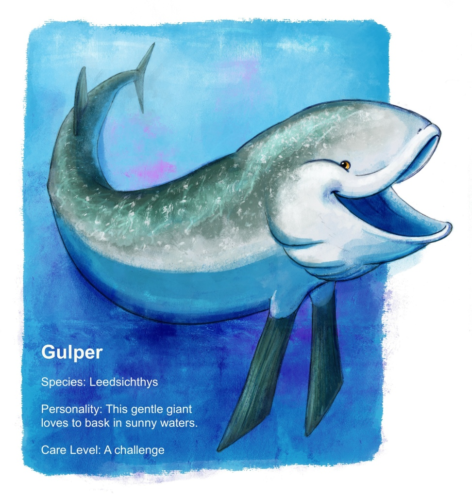 Gulper is a gigantic guppy-at-heart. Do you happen to have a goldfish bowl the size of the Mediterranean Sea?